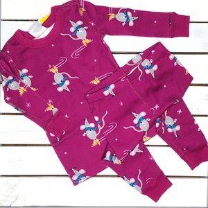 NWT Hanna Andersson long john pajamas organic